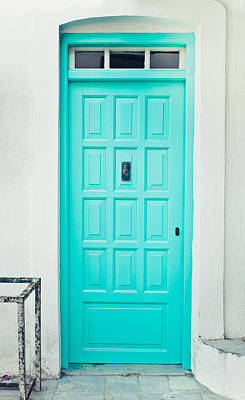 Blue Color Photograph - Front Door by Tom Gowanlock
