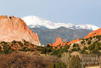 Photograph - Garden Of The Gods And Pikes Peak by Steve Krull