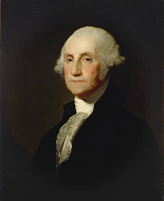 Freedom Painting - George Washington by Gilbert Stuart