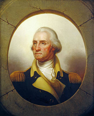 First Black President Painting - George Washington by Rembrandt Peale