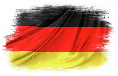 Photograph - German Flag by Les Cunliffe