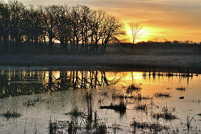 Photograph - Glacial Park Sunrise by Ray Mathis