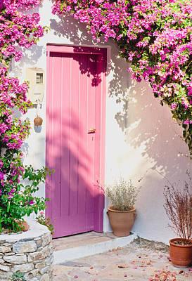 Dappled Sunlight Photograph - Greek House by Tom Gowanlock