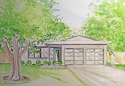 Mixed Media - House Rendering Sample  by Lizi Beard-Ward
