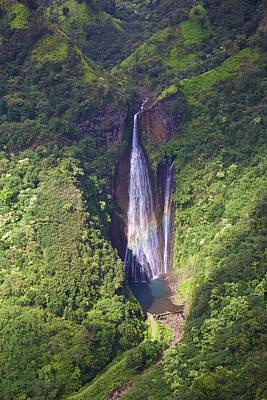 Photograph - Kauai Falls Aerial by Steven Lapkin