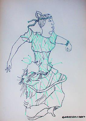 Painting - Kiganda Dance - Uganda by Gloria Ssali