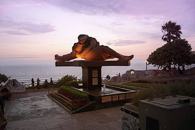 Digital Art - Lima Miraflores Lovers Park by Carol Ailles