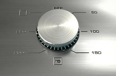 Screen Doors Digital Art - Modern Oven Closeups by Allan Swart