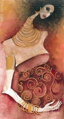 Painting - 9 Months by Maya Manolova