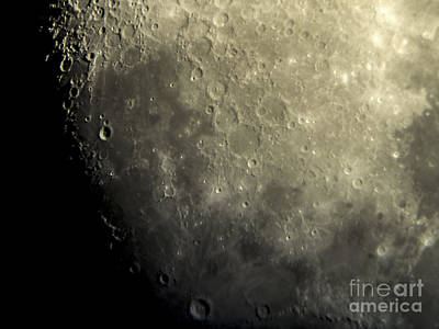 Moon - Close Up Of Craters Lunar Surface Art Print by David Oppenheimer