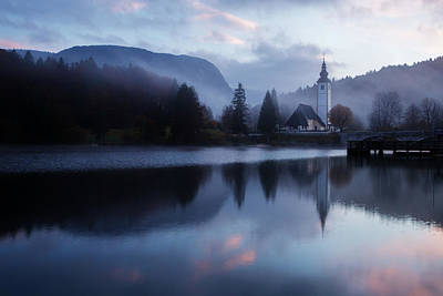 Photograph - Morning At Lake Bohinj In Slovenia by Ian Middleton