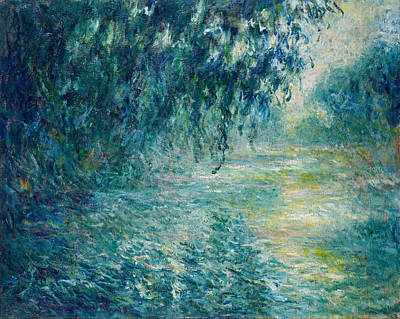 Weeping Painting - Morning On The Seine by Claude Monet