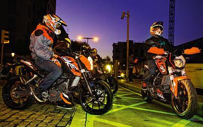 Transportation Digital Art - Motorcycle by Super Lovely