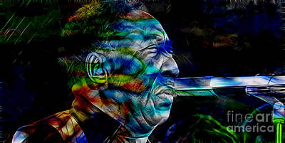 Musician Mixed Media - Muddy Waters Collection by Marvin Blaine