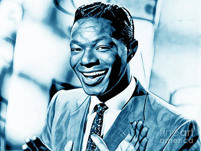 Jazz Mixed Media - Nat King Cole Collection by Marvin Blaine
