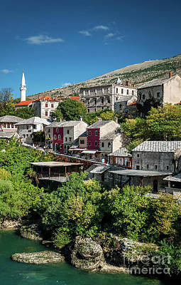 Photograph - Neretva River And Old Town Of Mostar Bosnia View by Jacek Malipan