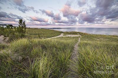 Onekama Shoreline Art Print by Twenty Two North Photography