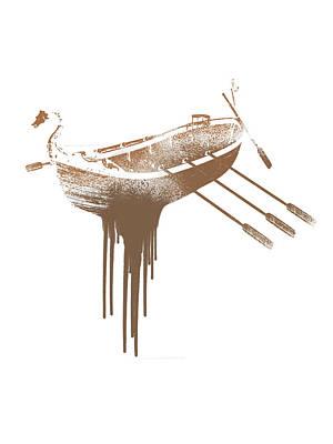 Oars Mixed Media - Paint Drips by Solomon Barroa