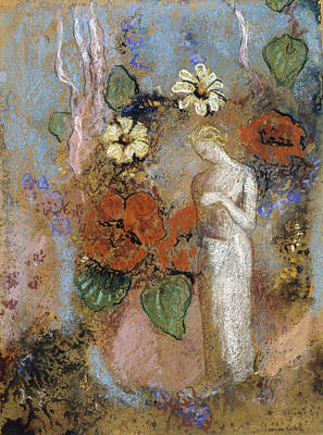 Greek Painting - Pandora by Odilon Redon