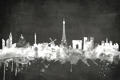 Paris France Skyline Art Print by Michael Tompsett