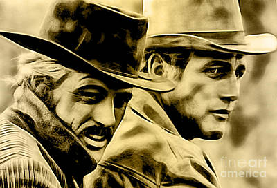 Mixed Media - Paul Newman Collection by Marvin Blaine