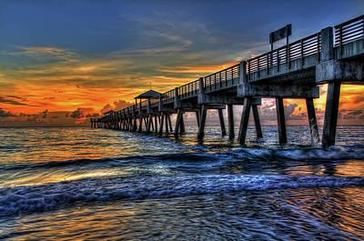Sunset Digital Art - Pier by Super Lovely