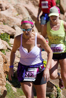 Footrace Photograph - Pikes Peak Marathon And Ascent by Steve Krull