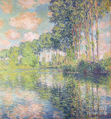 Poplars On The Epte Art Print