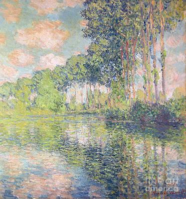Poplars On The Epte Art Print by Claude Monet