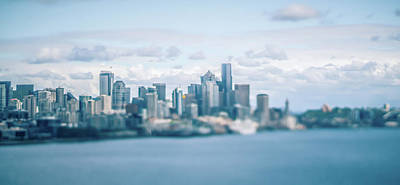 Photograph - Port Of Seattle And Piers And Surroundings On Sunny Day by Alex Grichenko