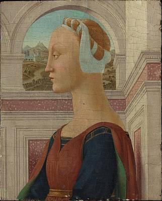 Statue Portrait Painting - Portrait Of A Woman by MotionAge Designs