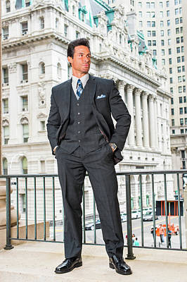 Photograph - Portrait Of Handsome American Middle Age Businessman In New York by Alexander Image