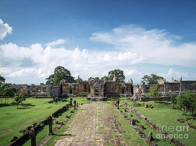 Photograph - Preah Vihear Famous Ancient Temple Ruins Landmark In Cambodia by Jacek Malipan