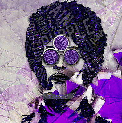 Mixed Media - Prince Purple Rain by Marvin Blaine