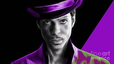 Legends Mixed Media - Prince Tribute by Marvin Blaine