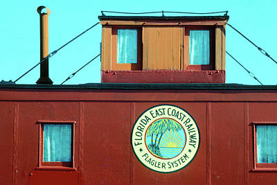 Photograph - Red Caboose by Carl Purcell