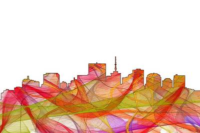 Digital Art - Richmond Virginia Skyline by Marlene Watson
