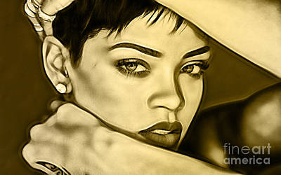 Mixed Media - Rihanna Collection by Marvin Blaine