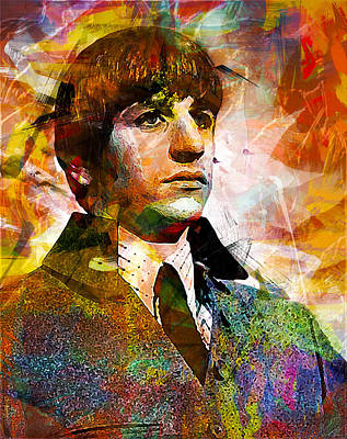 Ringo Starr. The Beatles. Art Print