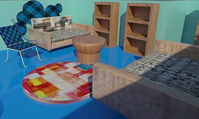Digital Art - Room by Bogdan Floridana Oana