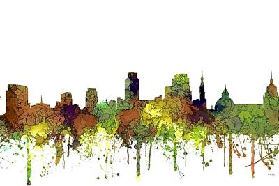 Digital Art - Sacramento California Skyline by Marlene Watson