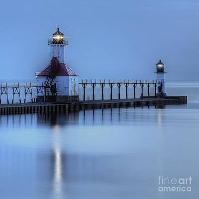 Saint Joseph Photograph - Saint Joseph, Michigan Lighthouse by Twenty Two North Photography