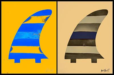 Wall Art - Painting - Salty Surf Fins  by Barry Knauff