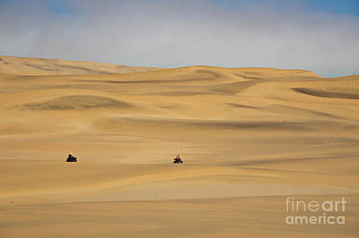 Sand Dunes In Namib Desert Art Print by Francesco Tomasinelli