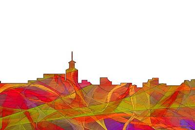 Digital Art - Santa Fe New Mexico Skyline by Marlene Watson
