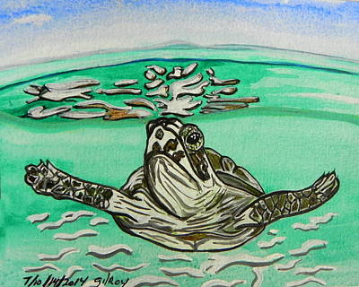 Baby Sea Turtle Painting - Sea Turtle by W Gilroy
