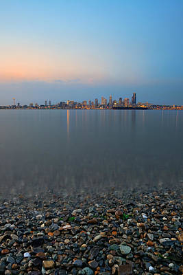 Photograph - Seattle Skyline by Songquan Deng