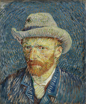 Photograph - Self-portrait With Grey Felt Hat by Vincent van Gogh