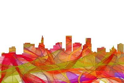 Digital Art - St Paul Minnesota Skyline by Marlene Watson