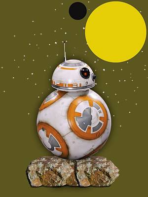 Mixed Media - Star Wars Bb8 Collection by Marvin Blaine
